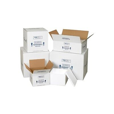 Insulated Shipping Containers 6 X 4 12 X 3 White 24case