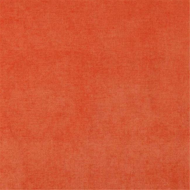 Designer Fabrics D238 54 in. Wide Orange Solid Woven Velvet Upholstery Fabric
