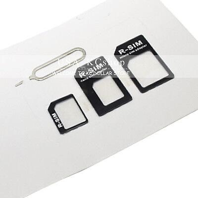 3PCS Micro Nano  sim to Mini SIM card Converter adapters for iphone 5 5c 4s 4 (Iphone 3 To Iphone 4 Sim Card)