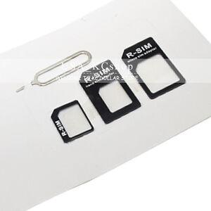 3PCS Micro Nano  sim to Mini SIM card Converter adapters for iphone 5 5c 4s 4 5S