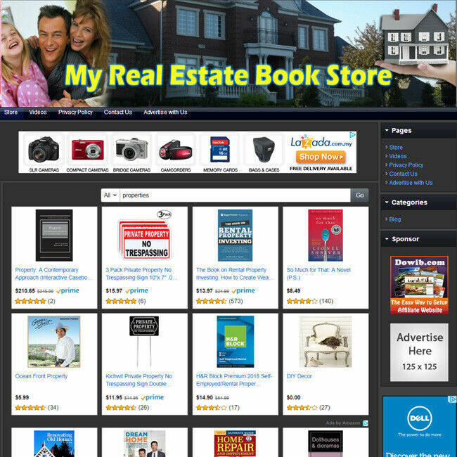REAL ESTATE BOOK STORE - Professional Flexible Online Business Website For Sale!