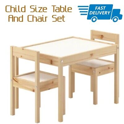 Small Kids Table (Small Table And Chair For Kids Toddler Child Little Wooden Furniture 2 Seat)