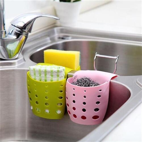 Kitchen Storage Sponge Sink Saddle Caddy Rack Holder Organizer Drain Baskets G