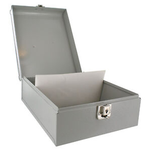 Buddy Products Personal Check Grey Steel File Storage Box