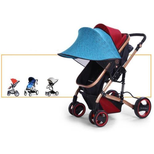 Baby Pushchair Pram Grip Handle Artificial PU Leather Sleeve Case Cover HC