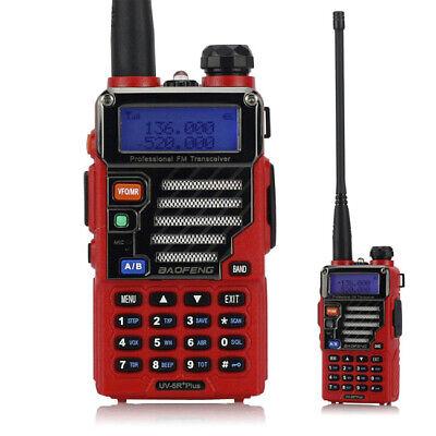 Rot BaoFeng UV-5R Plus Qualette 136-174/420-520 MHz PMR Radio Funkgerät