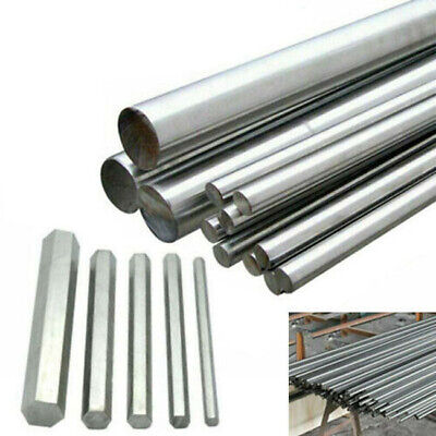 304 Stainless Steel Round Rod Hex Bar 125mm-500mm Solid Metal Shaft 3mm 5mm-14mm