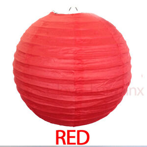 12 x Round Paper Lanterns Wedding Party Chinese Home Decoration 8