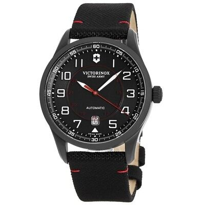 New Victorinox Swiss Army Airboss Mechanical Black Edition Men's Watch 241720
