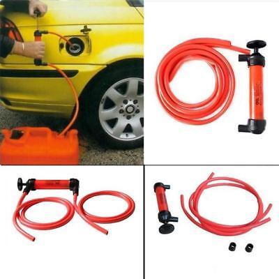 Car Manual Siphon Pump Fuel Gas Transfer Oil Water Liquid Hand Air Pumps Tools W