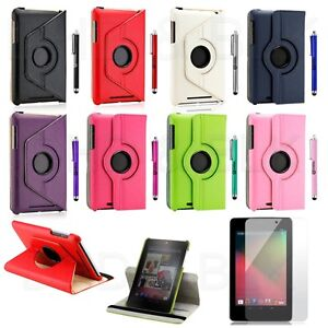 360 Degree Rotating PU Leather Smart Cover Case for Google Nexus 7 Asus Tablet