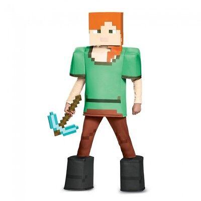 Disguise Alex Prestige Minecraft Girls Costume Multicolor Small (4-6) - Minecraft Girl Costumes