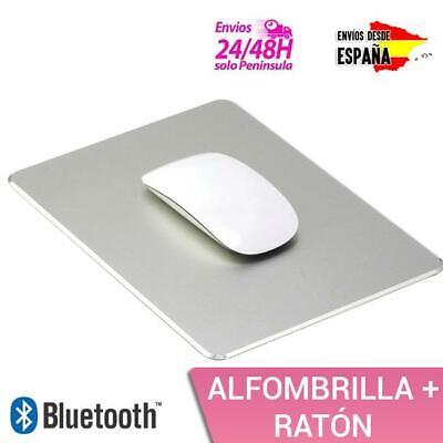 PACK DE RATÓN BLUETOOTH TIPO APPLE + ALFOMBRILLA DE ALUMINIO PREMIUM