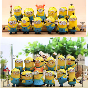 12X Popular Despicable Me 2 Minions Movie Character Figures Doll Toy Gift Set