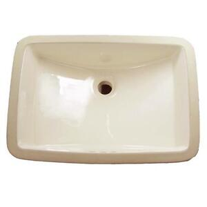 BONE/CREAM undermount Rectangle Sink -$40