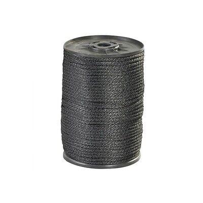 Solid Braided Nylon Rope 14 1150 Lb Black 500case