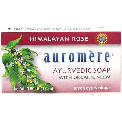 Auromere Ayurvedic Soap - Himalayan Rose 0.60 oz Bar(S)