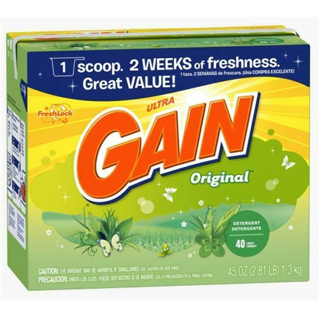 Procter & Gamble 84932 45 Oz Original Scent Gain Ultra Powder Detergent