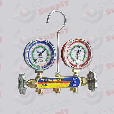 Yellow Jacket 41212 - Series 41 Manifold Only 2-12 Gauges R-1222502 F