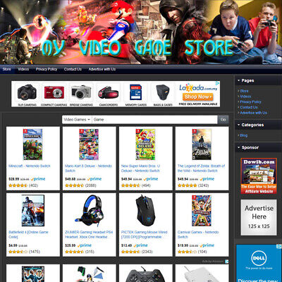 Video Game Store Fully Automated Home Based Online Business Website For Sale