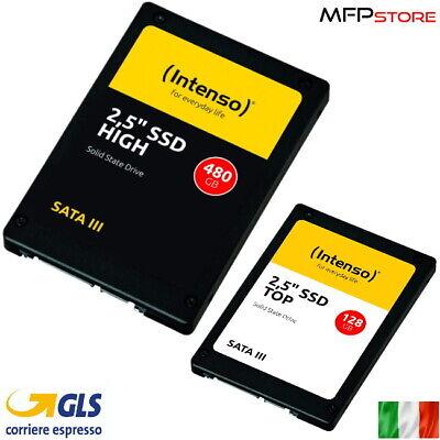 SSD INTENSO 128GB 480GB HIGH SATA3 2,5'' INTERNO PER COMPUTER DESKTOP LAPTOP