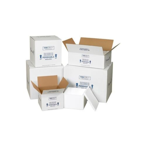 """""""Insulated Shipping Containers, 12""""""""x10""""""""x9"""""""", White, 1/Case"""""""