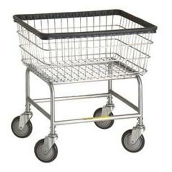 R&B Wire 100D Narrow Wire Frame Metal Laundry Cart - Chrome
