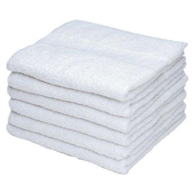 60 white cotton washcloths durable towels hotel facial barber salon gym 12x12