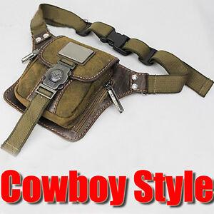 Vintage-Mens-Canvas-Bumbag-Hiking-Satchel-Shoulder-Fanny-Pack-Belt-Waist-Bags