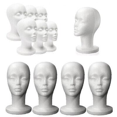 Female Styrofoam Foam Mannequin Manikin Head Wig Display Hat Glasses Stand Women