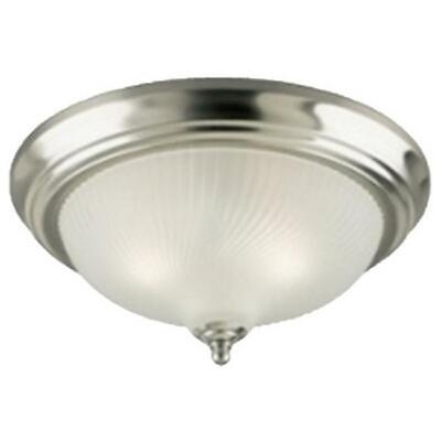 Westinghouse 64305 2 Light Flush Mount Ceiling Fixture - Brushed Nickel Finish