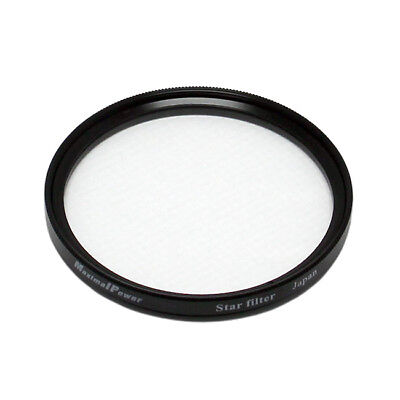 (52mm STAR 4 Point Cross Screen Lens Filter Protector Cover for Canon Nikon Sony)