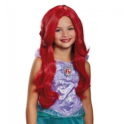 Red Mermaid Wig (Disguise The Little Mermaid Ariel Deluxe Child Halloween Costume Wig)
