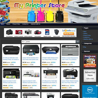 Printer Store - Premium Online Affiliate Business Website For Sale Home Based