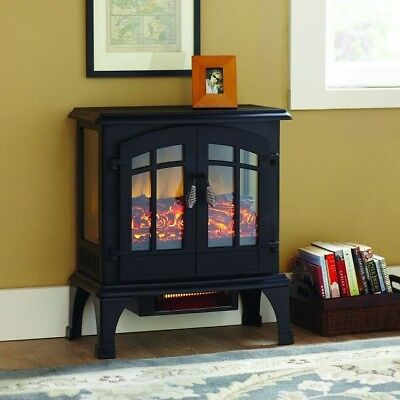 Electric Fireplace Heater Stove Infrared Blower Fan Small Space Portable Best
