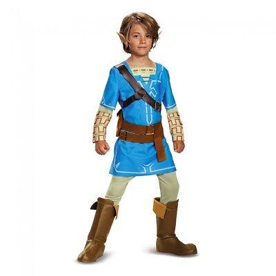 Disguise Legend Of Zelda Link Breath Of The Wild Deluxe Boys Halloween Costume