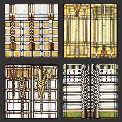 Frank Lloyd Wright Coasters - Frank Lloyd Wright Design for Glass Designs Coasters Set of 4 - WUAS2745