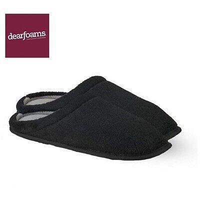 Mens corduroy House Slippers Open Back Comfort Black Moccasin Slip-on Men Shoes