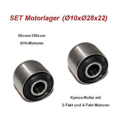 SET Gummi Motor Lager Puffer Silent Buchse 10x28x22mm Kymco-Roller mit 2T und 4T