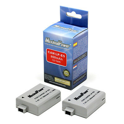2 x BATTERY For CANON LP-E5 LPE5 Rebel Xsi Xs T1i 450D