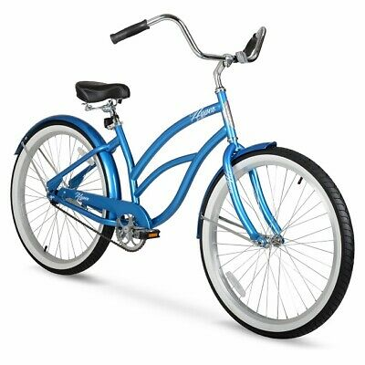Beach Cruiser Bike Girls Womens Cruisers 26 Inch Bicycle Alloy Wheels Comfort A+