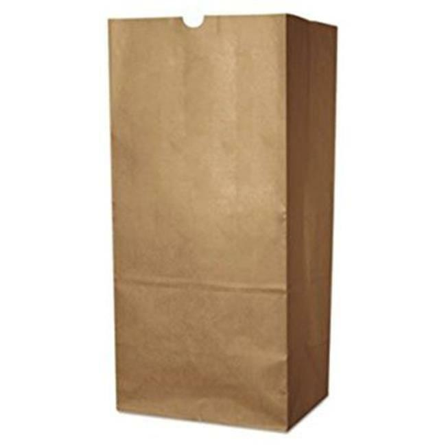AJM Packaging Natural Kraft Squat Grocery Sack - 500 per case.