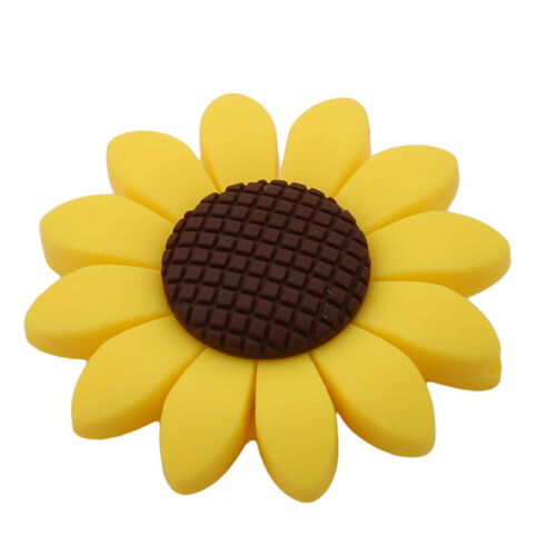 Silicone Sunflower  Teether Toy For Baby Teething Pendant Ne
