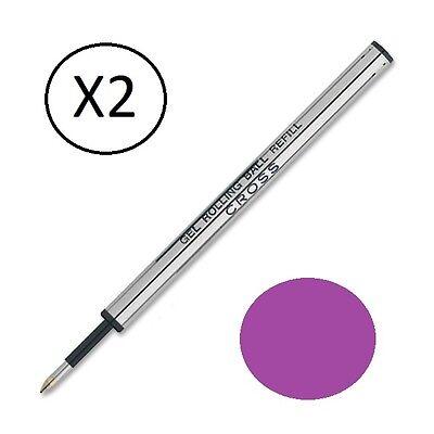 2 - Genuine Cross Selectip Rollerball Pen Refills - PURPLE - New In Sealed - Cross Selectip Roller Ball Refill