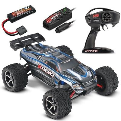 Traxxas 1/16 E-Revo Brushed 4WD RTR RC Monster Truck w/ID & Quick Charger SILVER