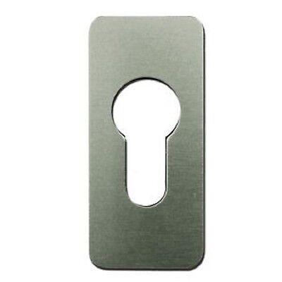 Self Adhesive Euro Profile Escutcheon Plates - Silver or Black