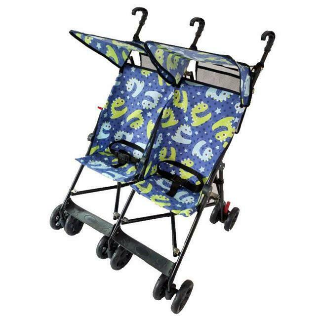 Amoroso 42182 blue Twin Umbrella Stroller Blue - Side by Side