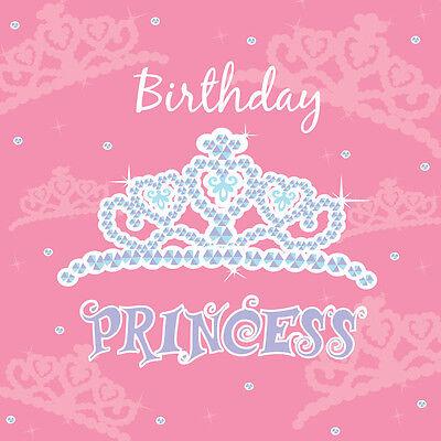 Birthday Princess Luncheon Napkins - Birthday Party Supplies