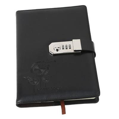 Vintage A5 PU Diary Notebook Journal Notepad With Code Lock Souvenir CB