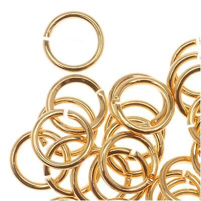 22K Gold Plated Open 5mm Jump Rings 21 Gauge (50)